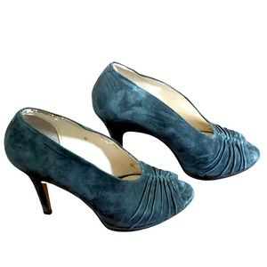 Boutique 9 Btalynda gray peep toe suede high heels